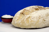White homemade bread and salt — Stock Photo