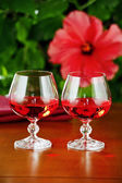 Wine glasses with red wine — Stock Photo