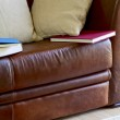 Couch, pillows and books — Stockfoto #25850599