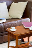Couch and coffee table — Stock Photo