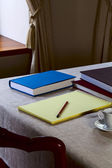 Notebook on the table — Stock Photo