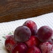 Plums on a plate — Stock Photo