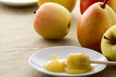 Honig äpfel und birnen — Stockfoto