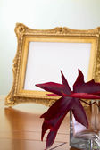 Autumn Leaves and photo frame — Stock Photo