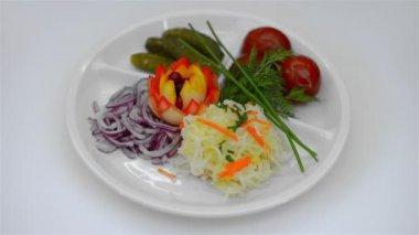 Pickled salad — Stock Video