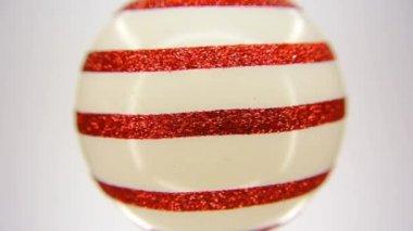Beige glas christmas ornament fullhd 1080p — Stockvideo