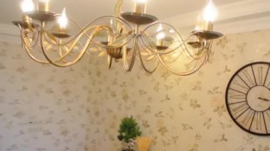 Decorated holiday table FullHD 1080p — Stock Video