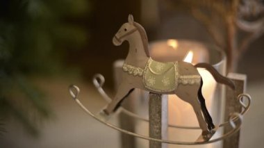 Metal rocking horse FullHD 1080p — 图库视频影像