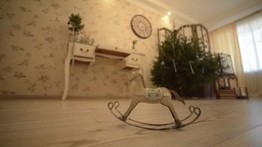 Metal rocking horse FullHD 1080p — Vídeo de stock