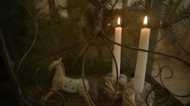 Metal rocking horse FullHD 1080p — Stock Video