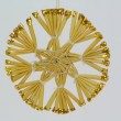 Snowflake christmas ornament made out of straw FullHD 1080p — Stock Video