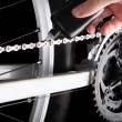 Bicycle chain oiling — Stock Photo #16203459