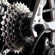 Bicycle gears and rear derailleur - Foto de Stock