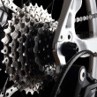 Bicycle gears and rear derailleur - Stok fotoğraf