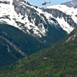 Helicopter Rides over Skagway, Alaska — Stock Photo
