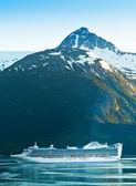 Kreuzfahrtschiff macht es — Stockfoto