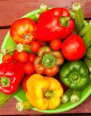 Puchar świeżych warzyw — Zdjęcie stockowe