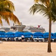 Stock Photo: Cruise Ships in Philipsburg, St. Maarten
