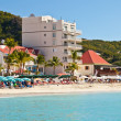 Great Bay Beach, St. Maarten — Stock Photo
