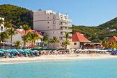 Great Bay Beach, St. Maarten — Stock Photo