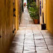 Dark Narrow Alley — Stock Photo