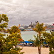 Stock Photo: Cruise Ships in St. Maarten