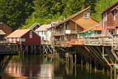 Shopping Village in Ketchikan, Alaska — Stock Photo