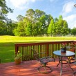 Backyard Deck — Stock Photo #26815311