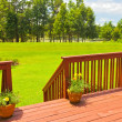 Stock Photo: Backyard Deck
