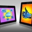 Two tablets pc — Stock Photo
