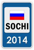 Sochi 2014 sign — Stock Photo