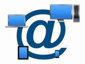 Internet mail communication concept — Stock Photo