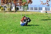 Photographer girl — Stock Photo