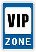 Sign VIP zone — Stock Photo