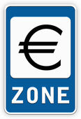 Sign EURO zone — Stock Photo
