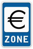 Sign EURO zone — Stock Photo