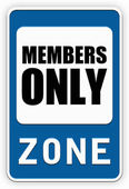 Sign MEMBERS ONLY zone — Stock Photo