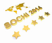 3d word SOCHI 2014 — Stock Photo
