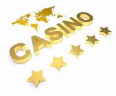 Golden word CASINO — Stock Photo