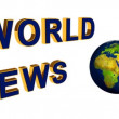 Animation, the world news — Vídeo Stock