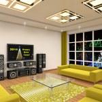 Interior of modern room 2014 — Stock Photo