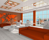 Interior of office 3d — Stock Photo