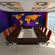Stock Photo: Interior of room for negotiations