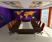 Interior of the room for negotiations — Stock Photo