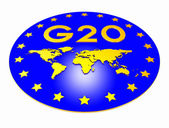G20 sign 3d — Stock Photo