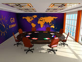 Interior of the room for summit G8 — Stock Photo