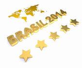 3d word BRASIL 2014 — Stock Photo