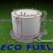 Eco fuel storage tank — Stock Photo #48889287