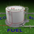 Eco Bio Fuel storage tank — Stock Photo #48889333