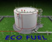 Eco fuel storage tank — Stock Photo